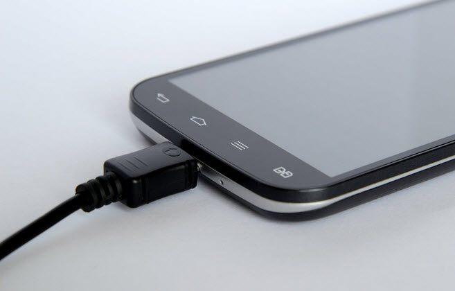 Smartphone en charge